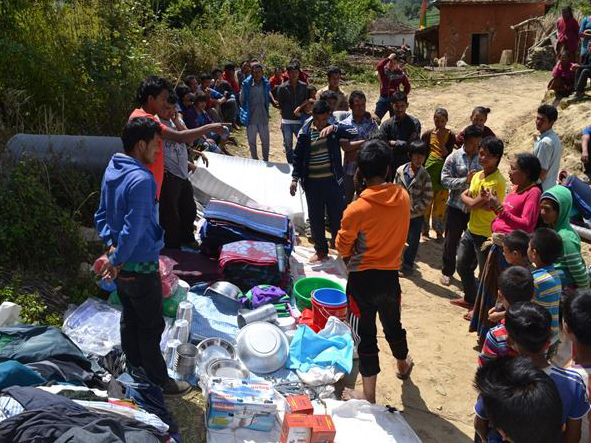 Earthquake Nepal Support - Supply Clothes & Basic Households