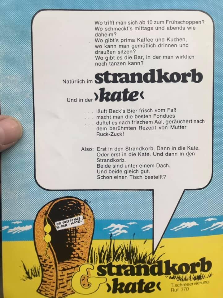 Anzeige aus dem Seehund ca. 1978
