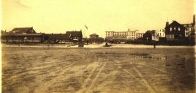 """um 1902 - 05 , vom Watt aus gesehen.             --Sammlung """"ac"""" --"""