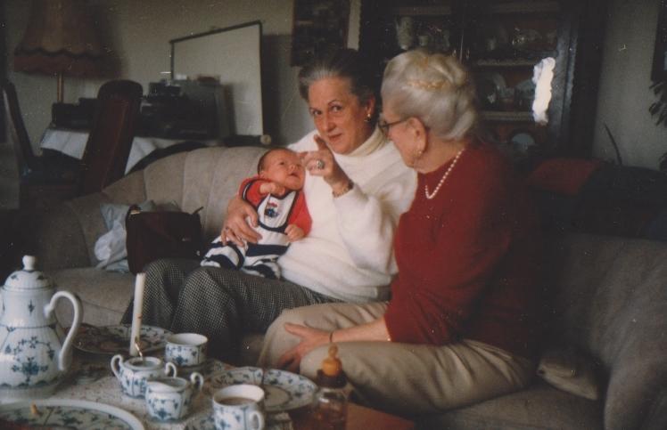 die Damen Melcher aus Nürnberg  mit Gerhard im Mai 1986