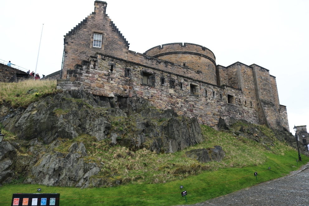 A part of Edinburgh Castle