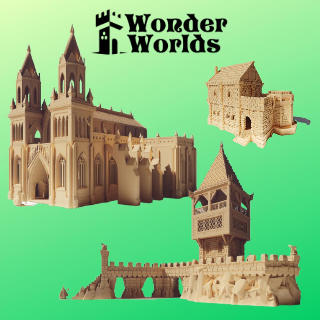 Wonderworlds - riesige Gebäude und Geländestücke, die auf alle Ebenen bespielbar sind
