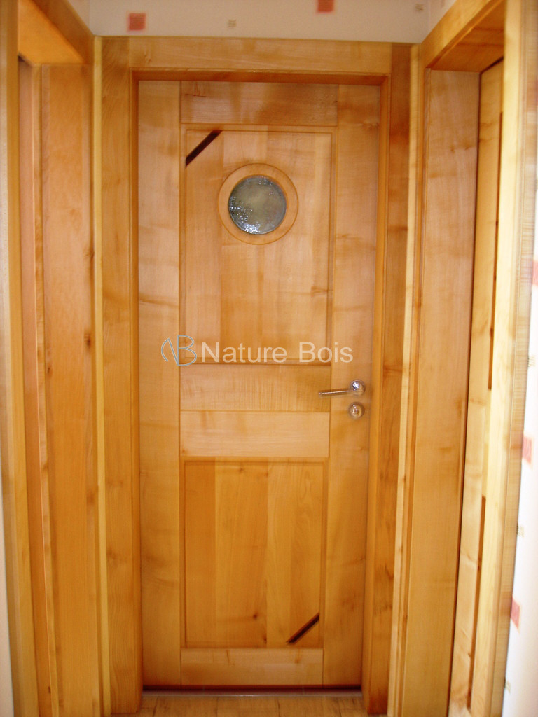 porte menuiserie nature bois