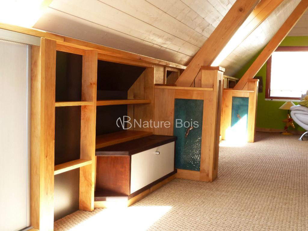 aménagement comble nature bois