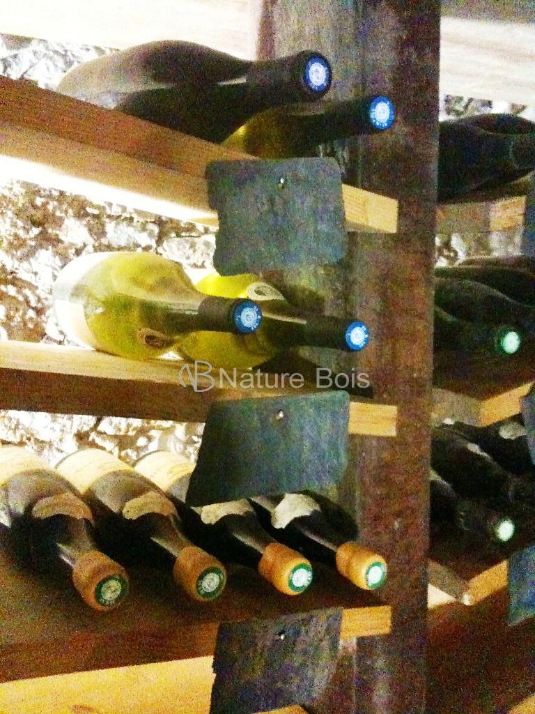cave à vin menuiserie nature bois