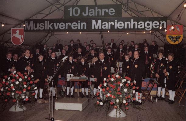 Jubiläumsfest zum 10-jährigen Bestehen des Musikverein Marienhagens (1977)