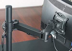 対荷重に耐える机をご利用ください  アームサイズ:24インチモニターまで取り付けできます