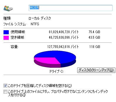 あなたのデイトレパソコンの使用容量の調べ方