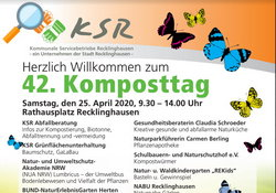 Flyer - Komposttag 2020 in Recklinghausen - Lokale Agenda 21 Recklinghausen