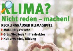 Flyer - Klimagipfel Recklinghausen - Lokale Agenda 21 Recklinghausen