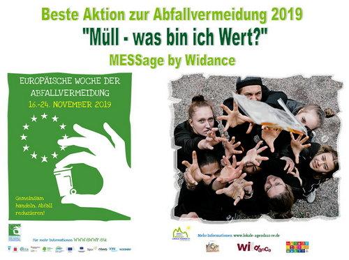 """Woche der Abfallvermeidung 2019 - Lokale Agenda 21 Recklinghausen Gewinnt den Prei """"Beste Aktion zur Woche der Abfallvermeidung und bekommt den Preis von der Bundesministerien Swenja Schulze überreicht"""