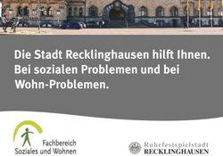 Recklinghausen hilft Ihnen bei sozialen Problemen- Lokale Agenda 21 für Recklinghausen
