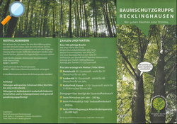 Flyer Baumschutzgruppe Recklinghausen - Lokale Agenda 21 Recklinghausen