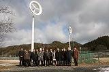 (有)共立機工の風レンズ風車