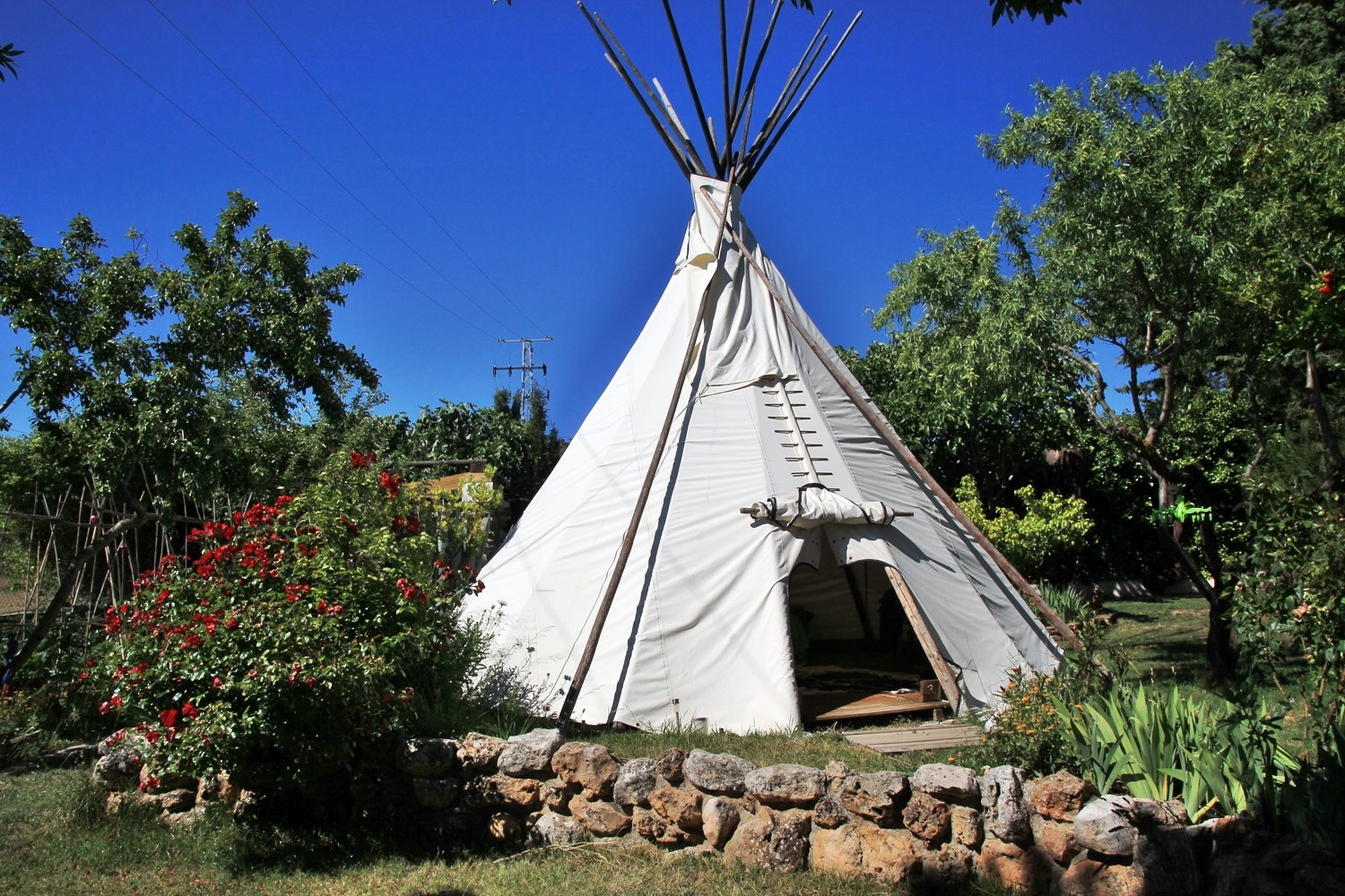 Front view of the Teepee