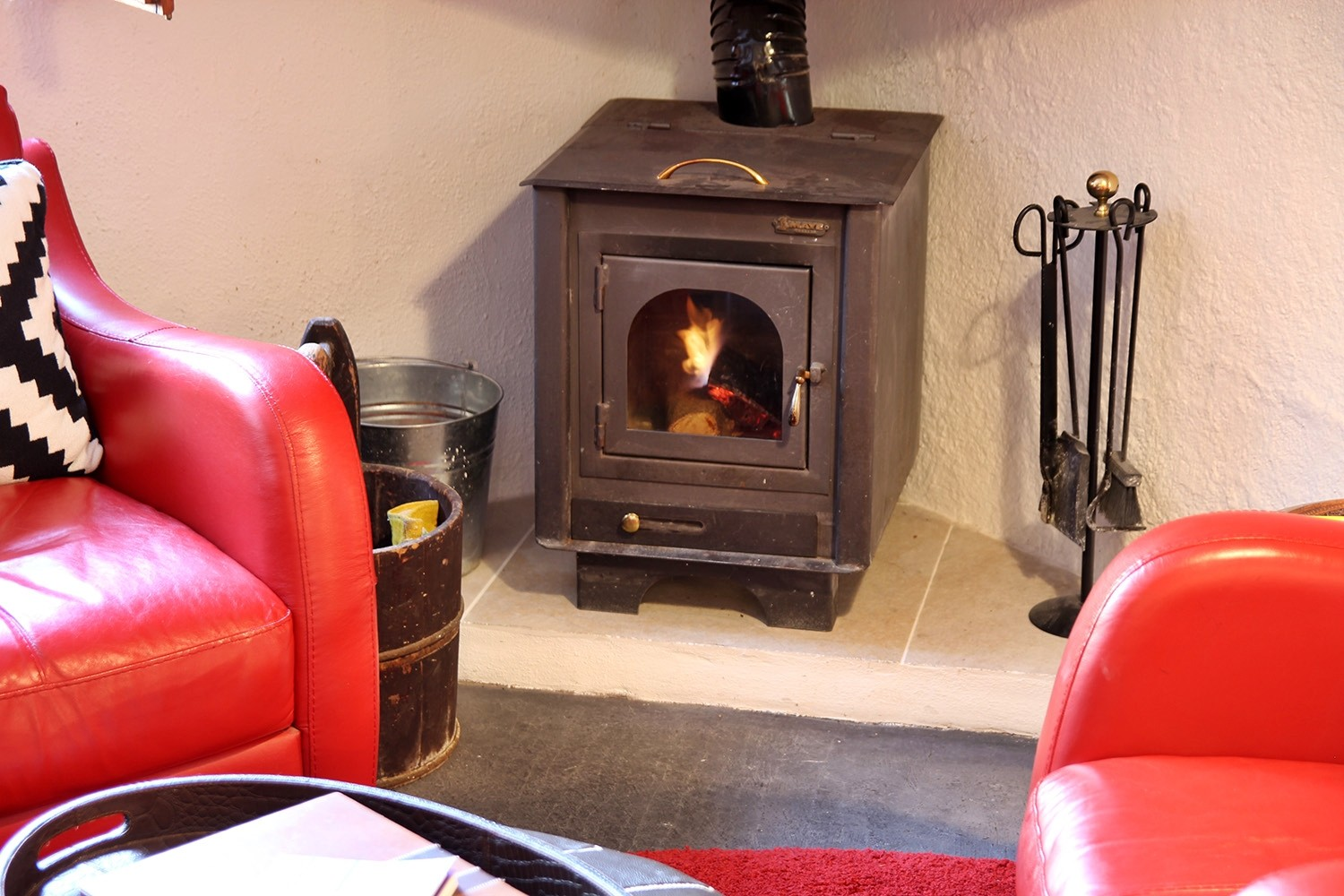 The wood burning stove