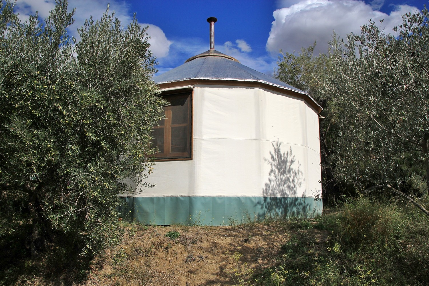 View on the small Yurt