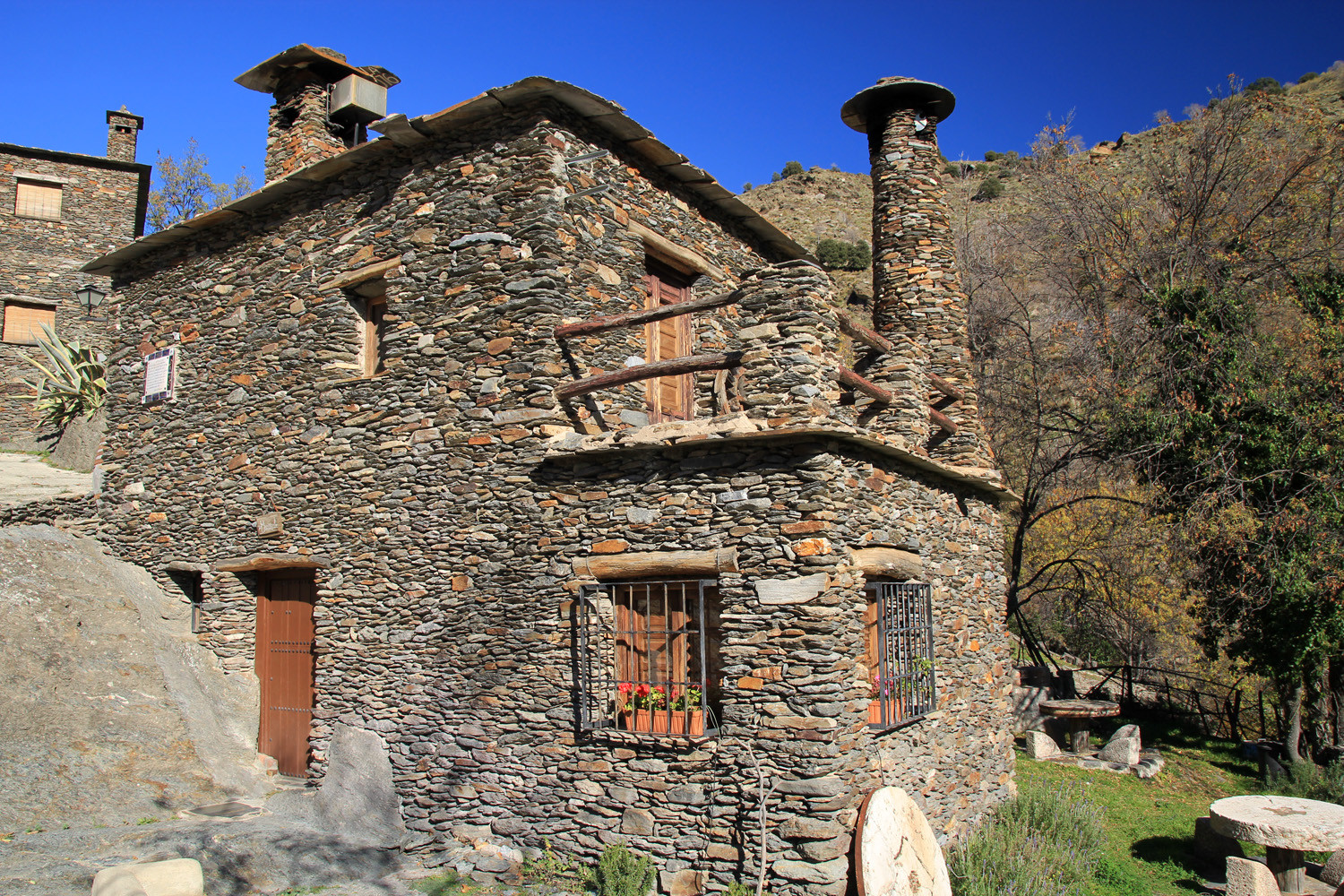 Restorated Mill in Mecina Bombarón