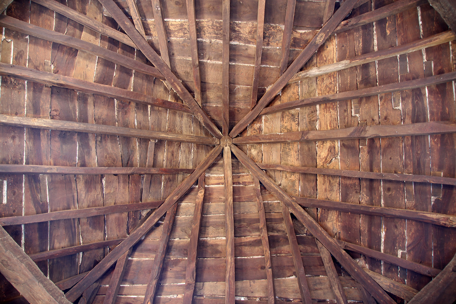 The ceiling of the tower room