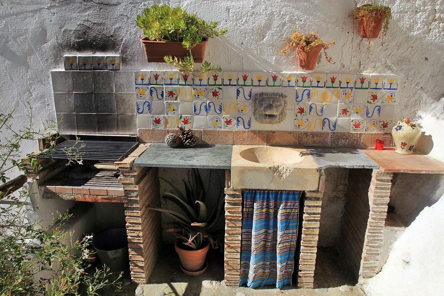 The open air kitchen