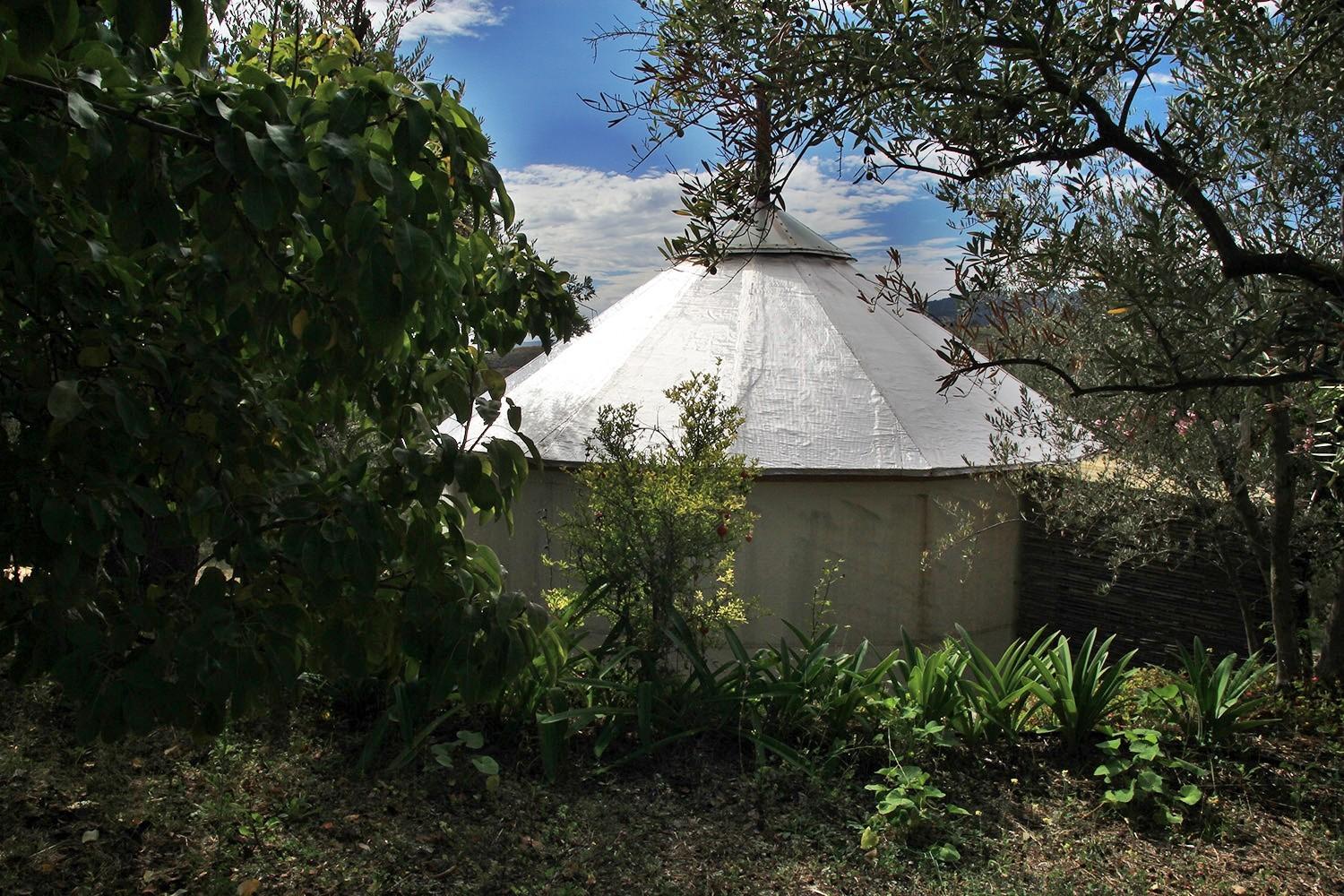 View on the small Yurt from the entrance