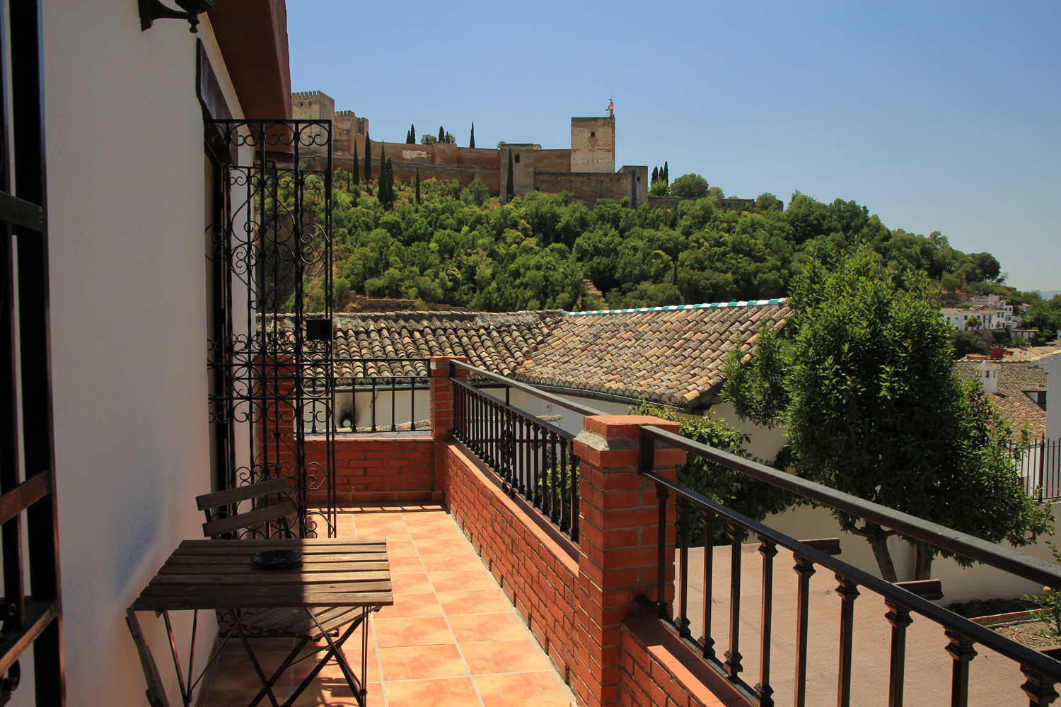 View from the terrace of the living