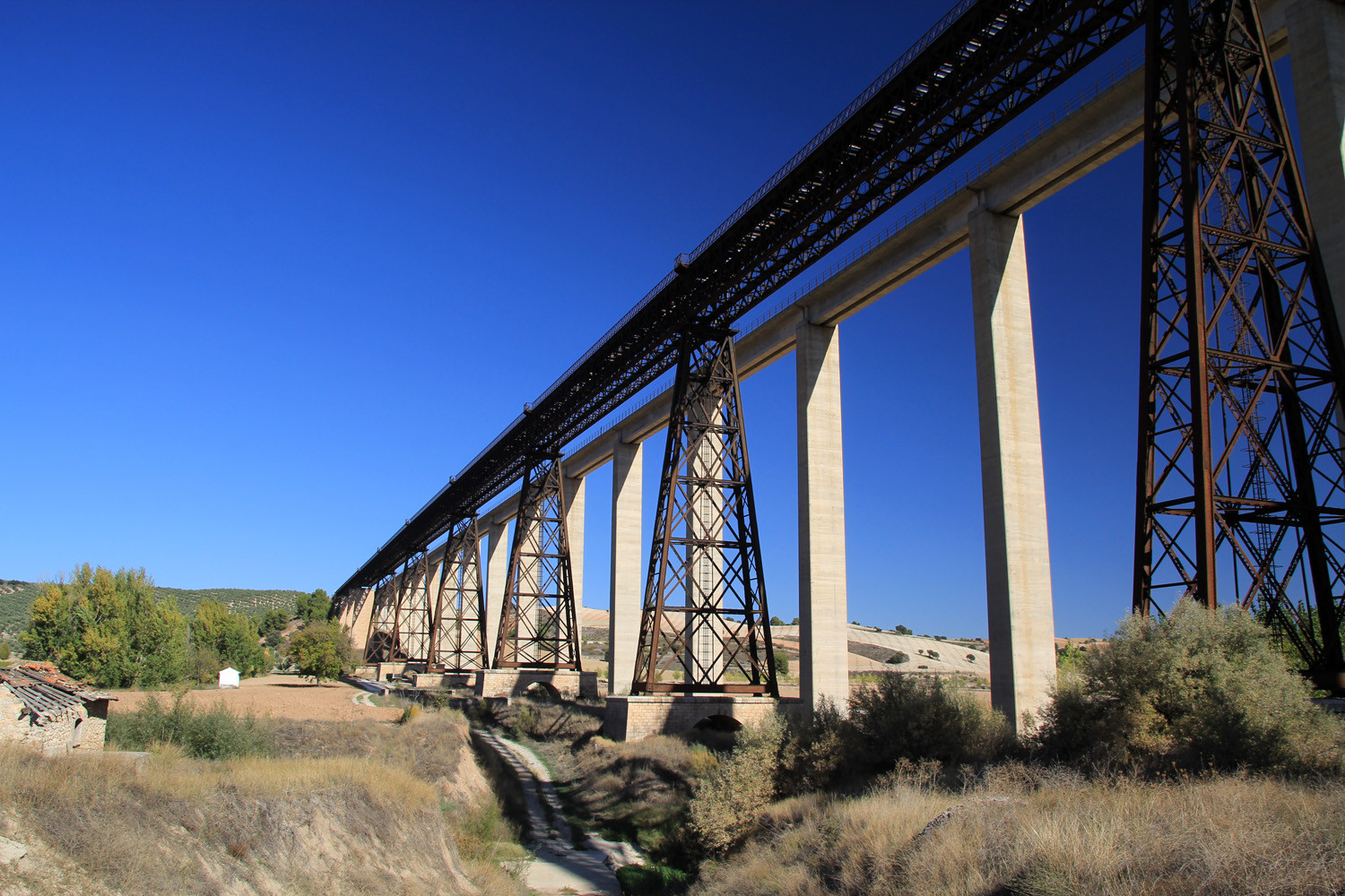 The Bridge designed by Eiffel in Guadahortuna
