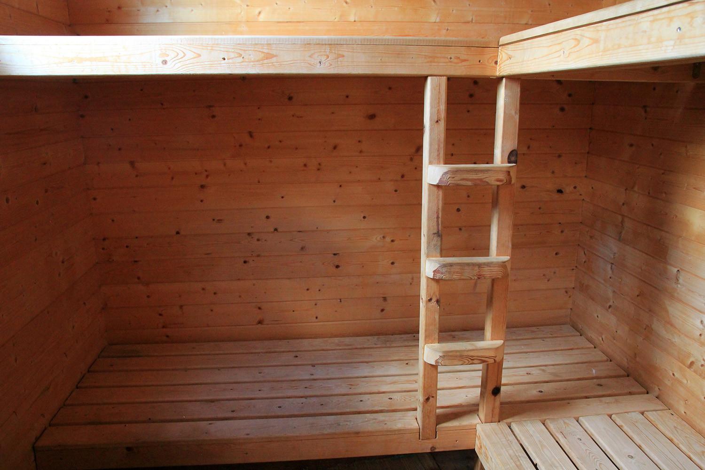 The sauna inside