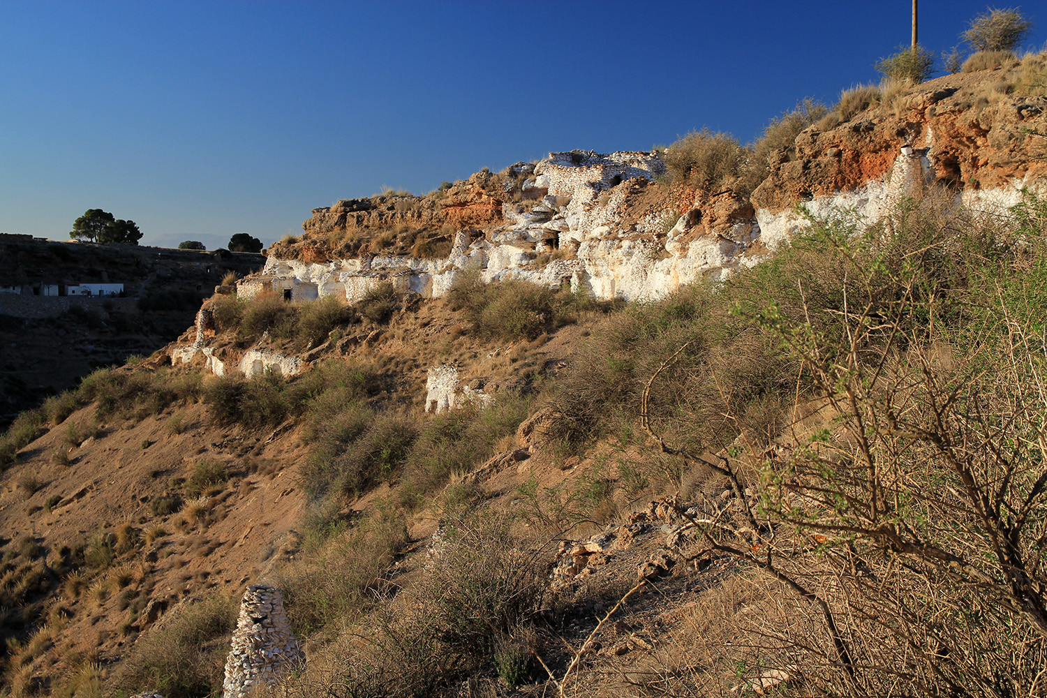 The view on the cave houses