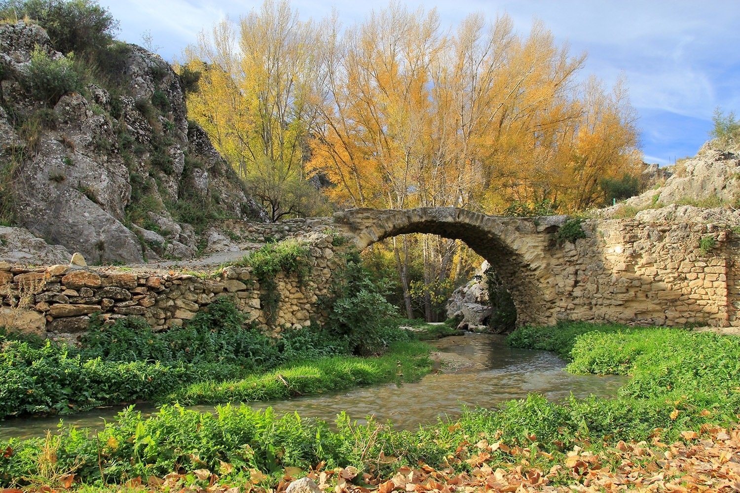 The Roman Bridge in Alhama de Granada