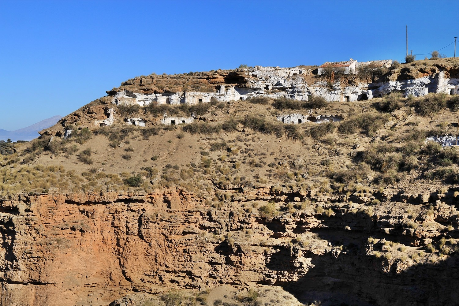 A view on the cave houses