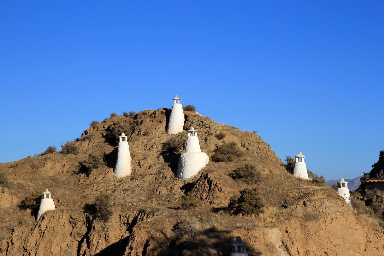 Cave House Chimneys in Benalúa