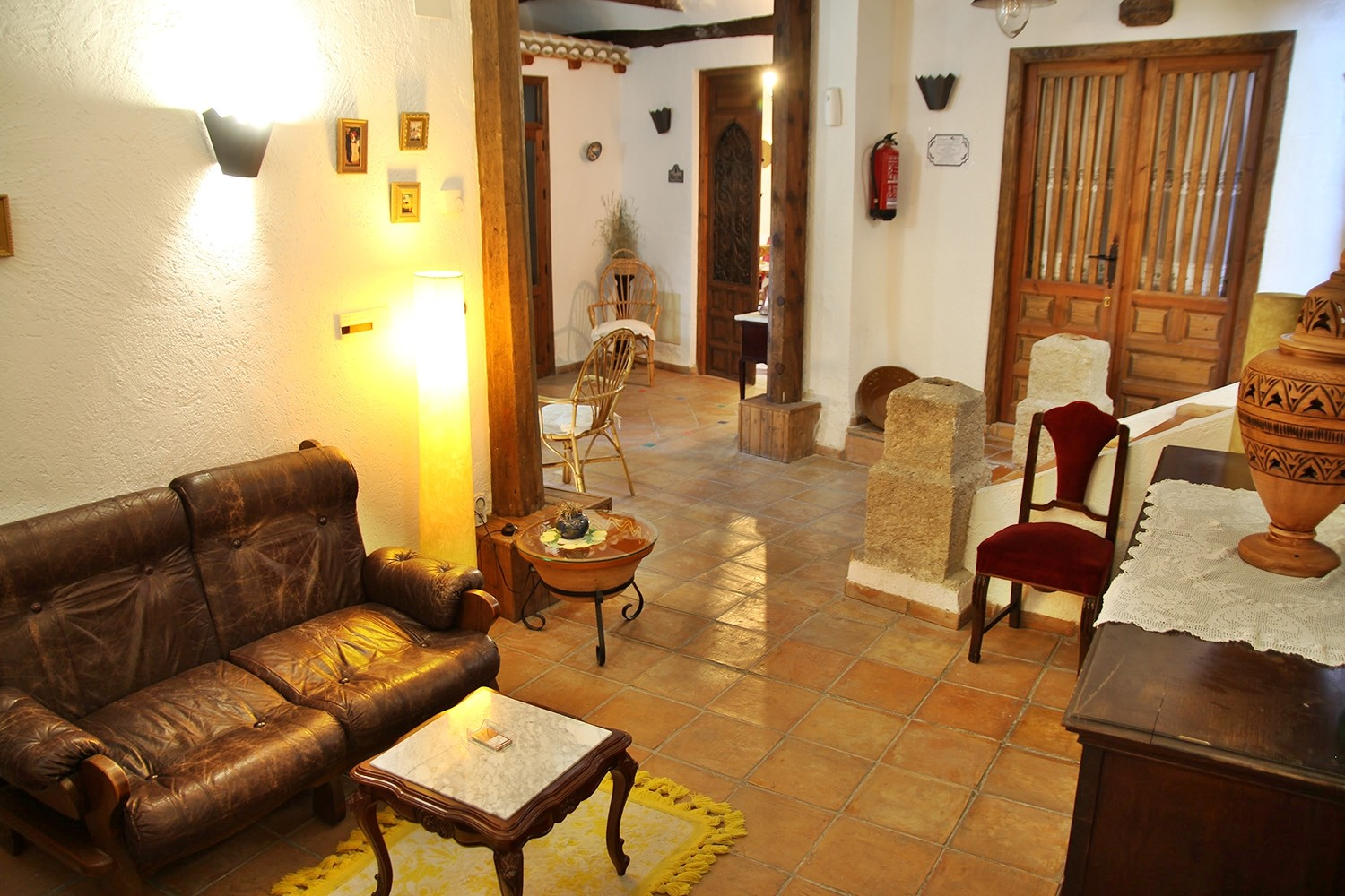 The communal lounge on the ground floor