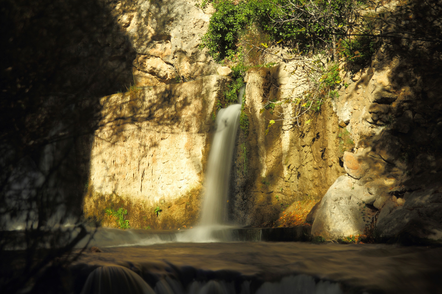 Waterfall in the Castril Canyon (village)