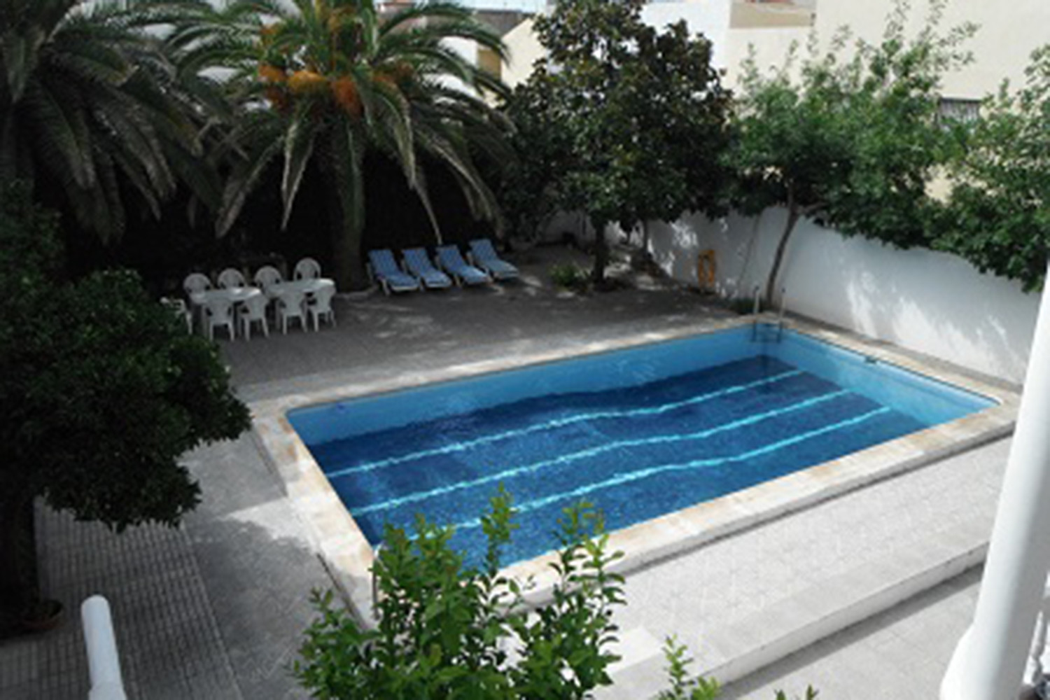 The swimming pool