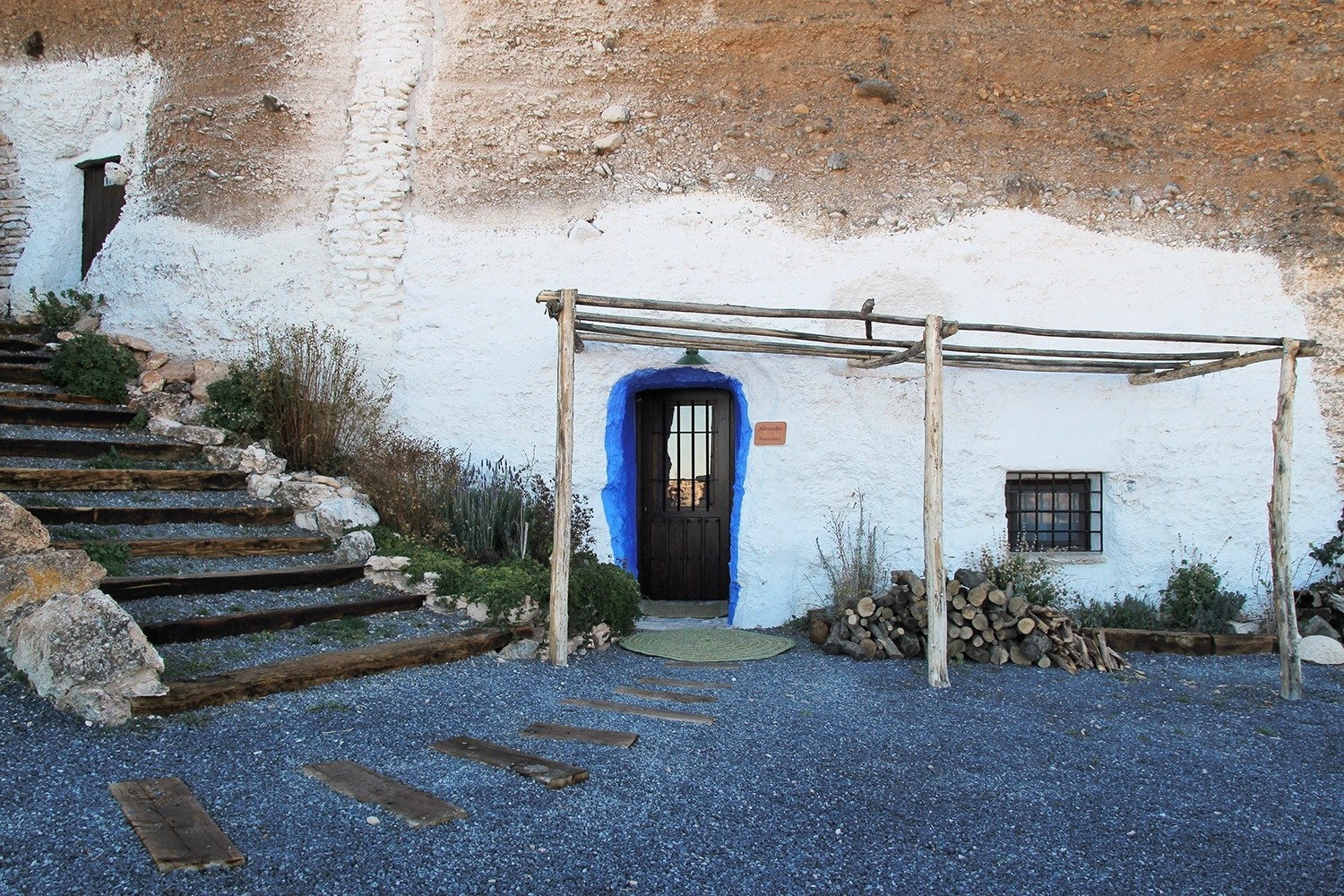 Front view of the cave house