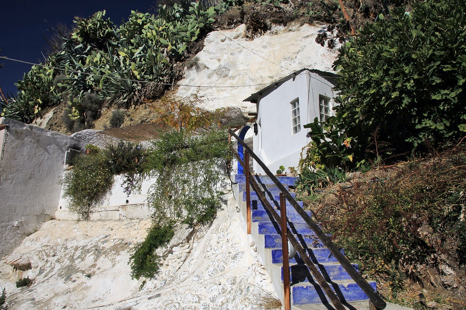The stairs to the cave