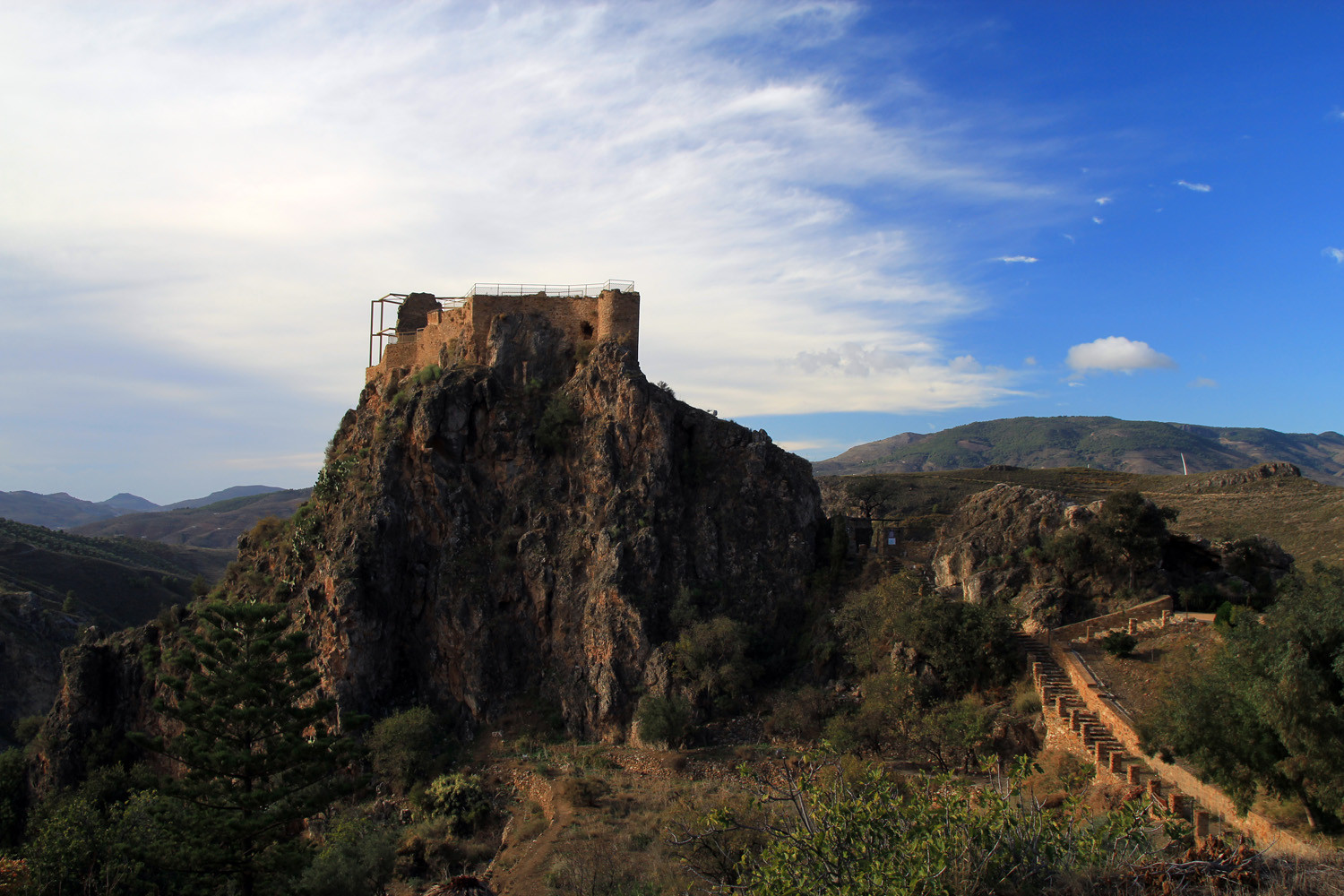 The Castle Ruins of Lanjarón