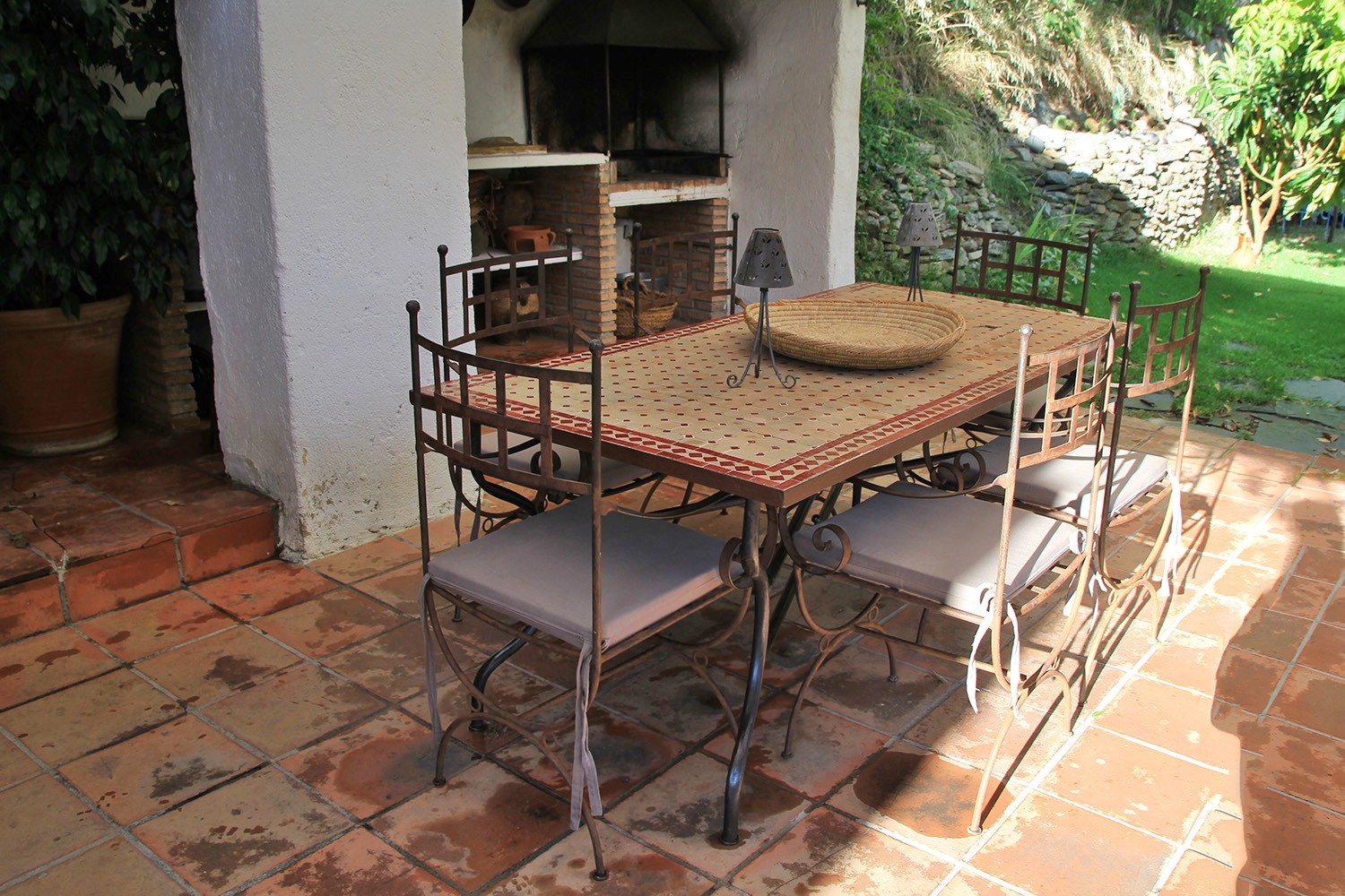 Terrace next to the kitchen