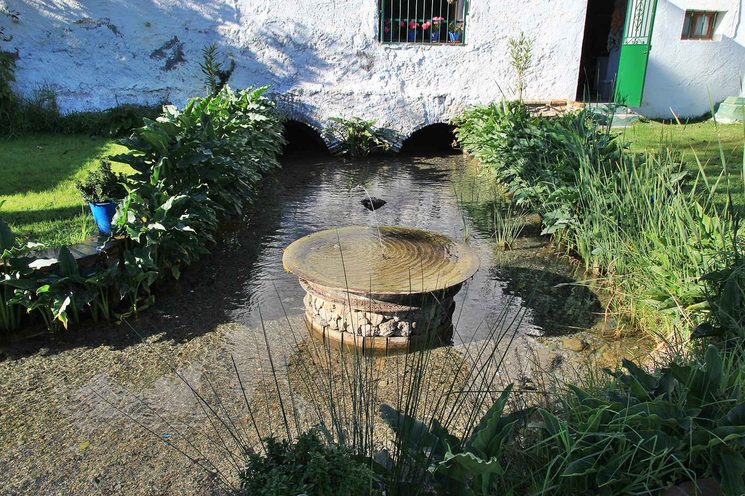 The water exit of the mill