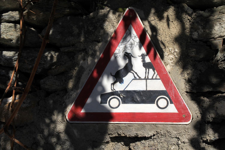 An Alpujarra Traffic Sign (Válor