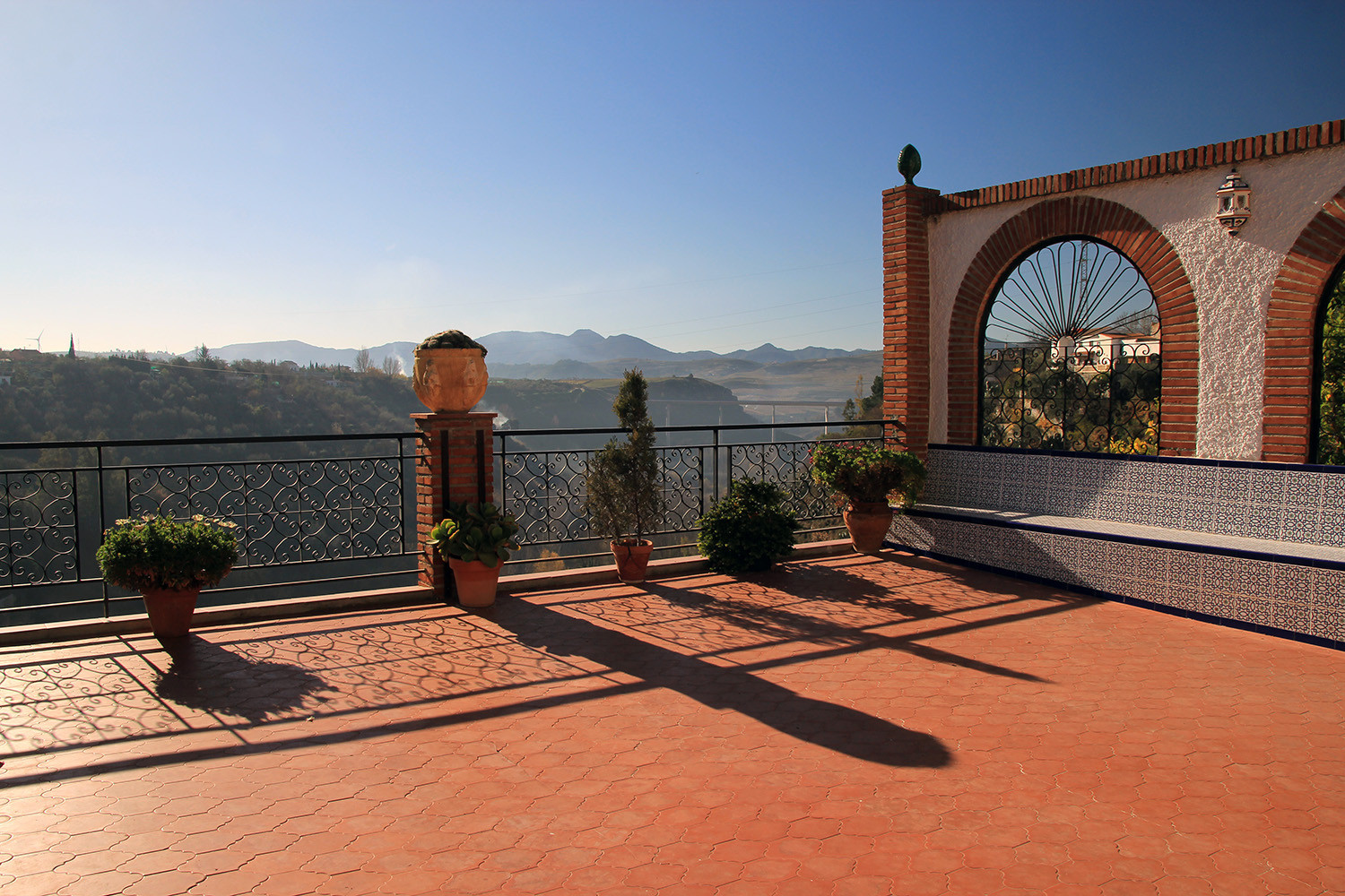 The views from the common terraces