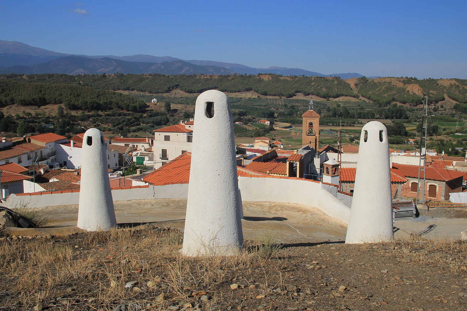 Cave House Chimneys in Alcudia de Guadix