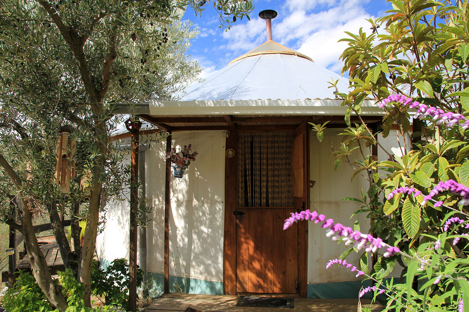 The front of the large yurt