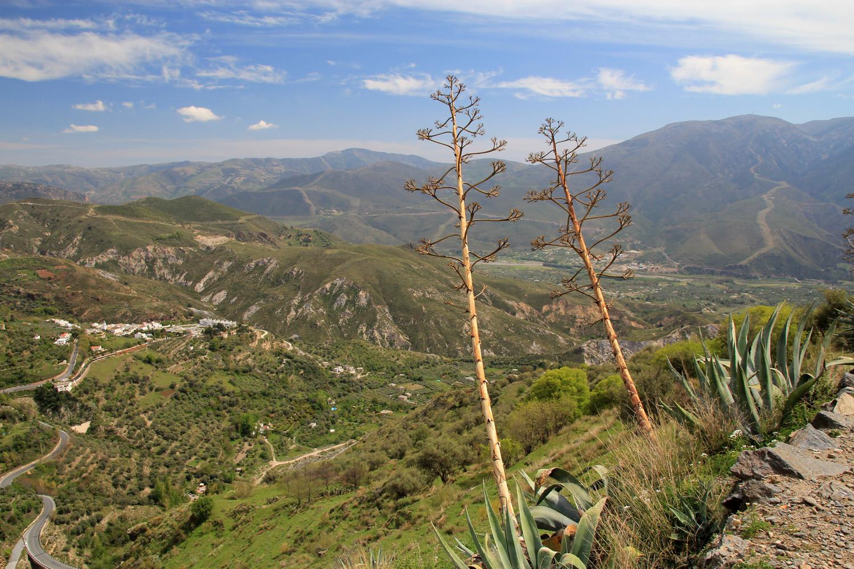 View over the Alpujarra (trail Cañar - El Dyke)