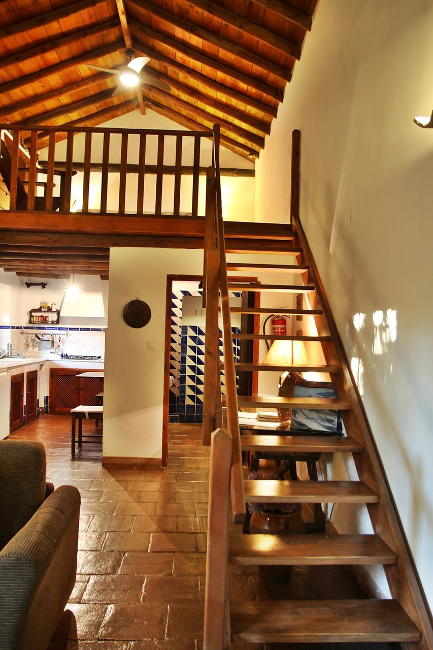 The stairs to the bedroom