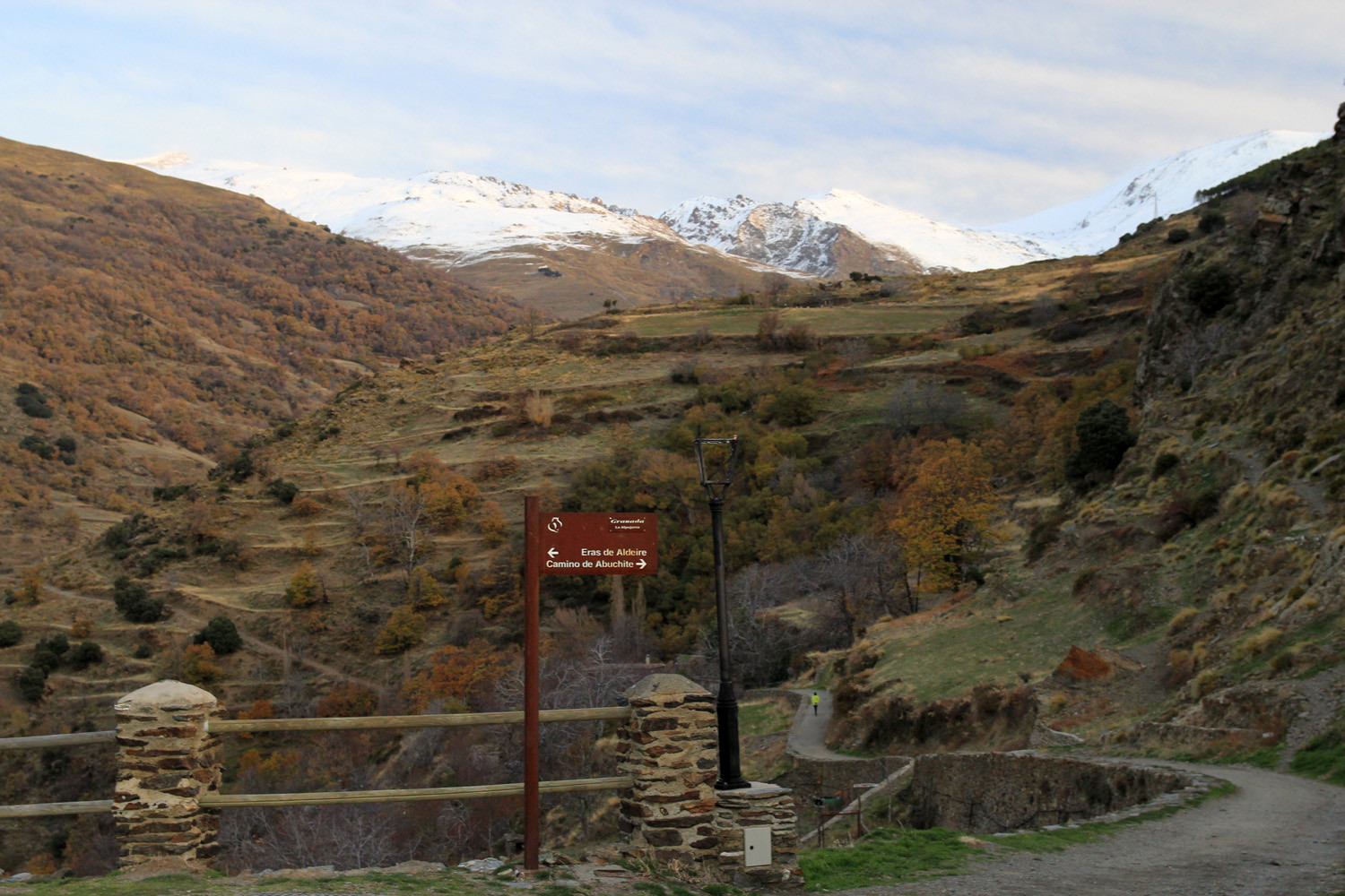 View on the Sierra Nevada from Capileira