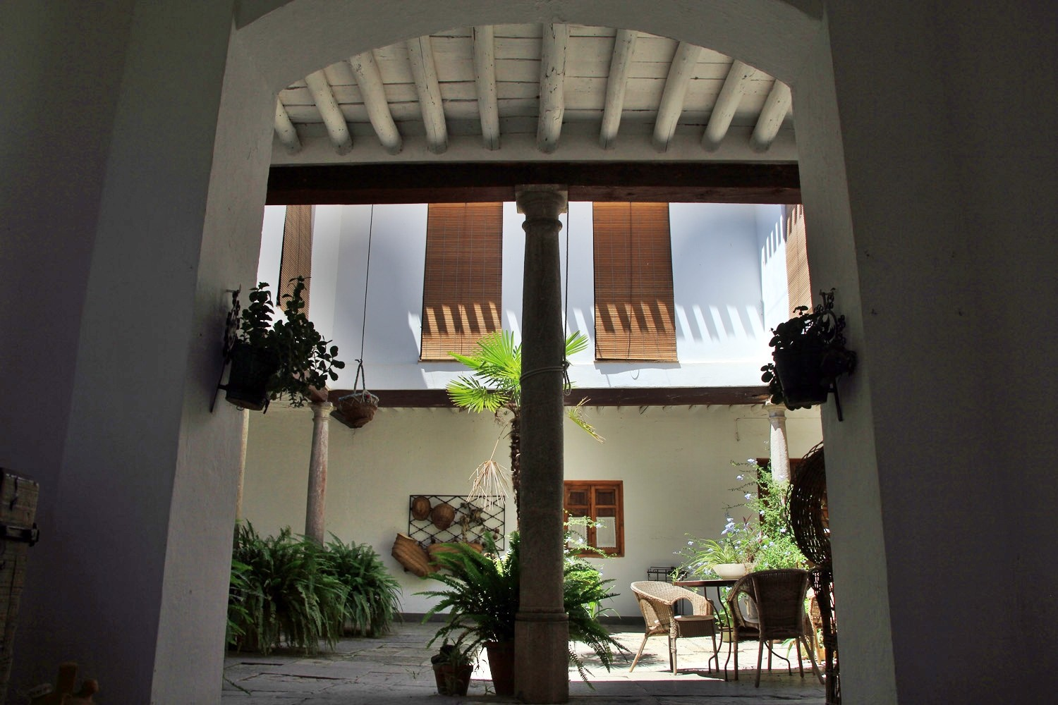 The entrance to the courtyard