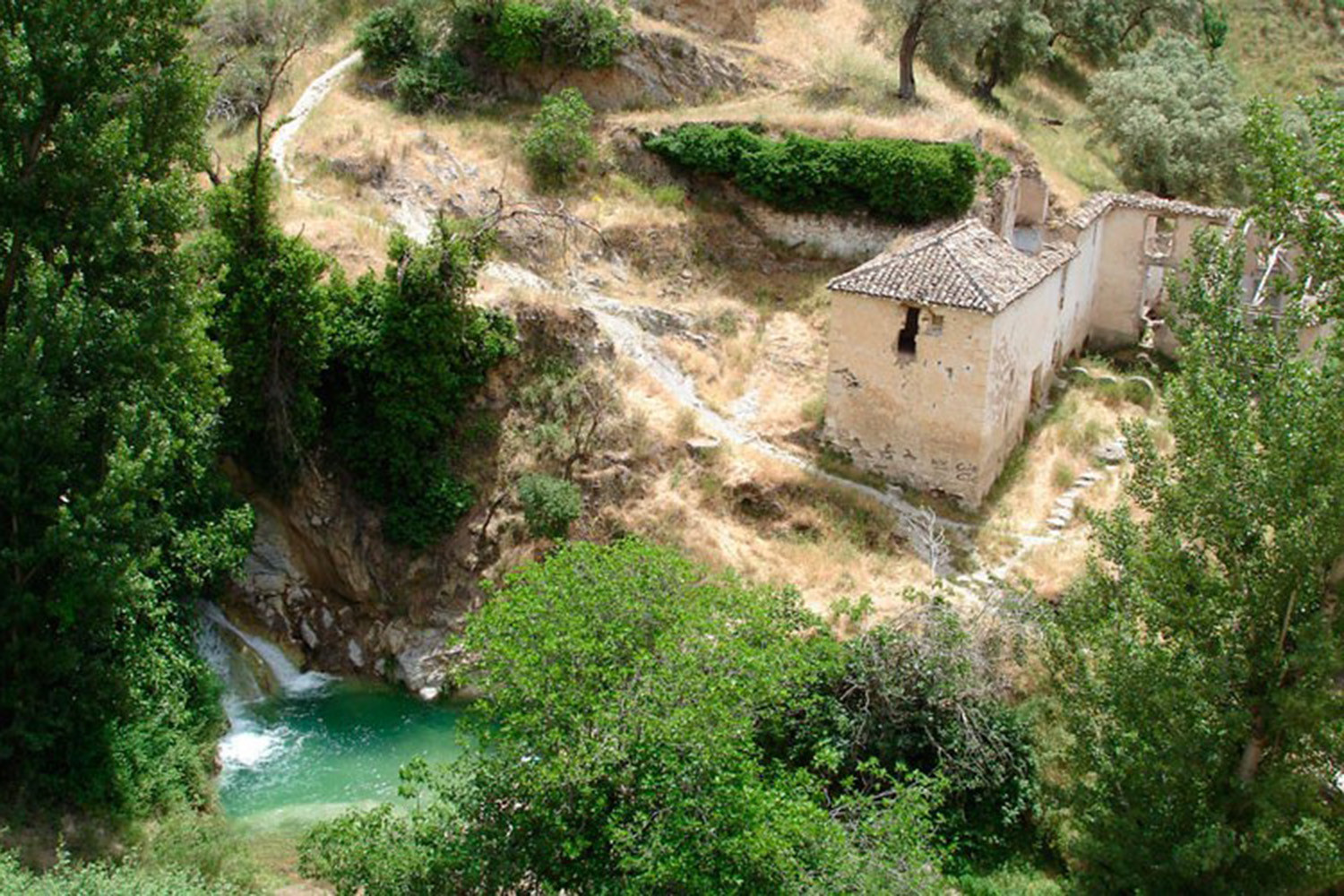 The nearby waterfalls (50m)