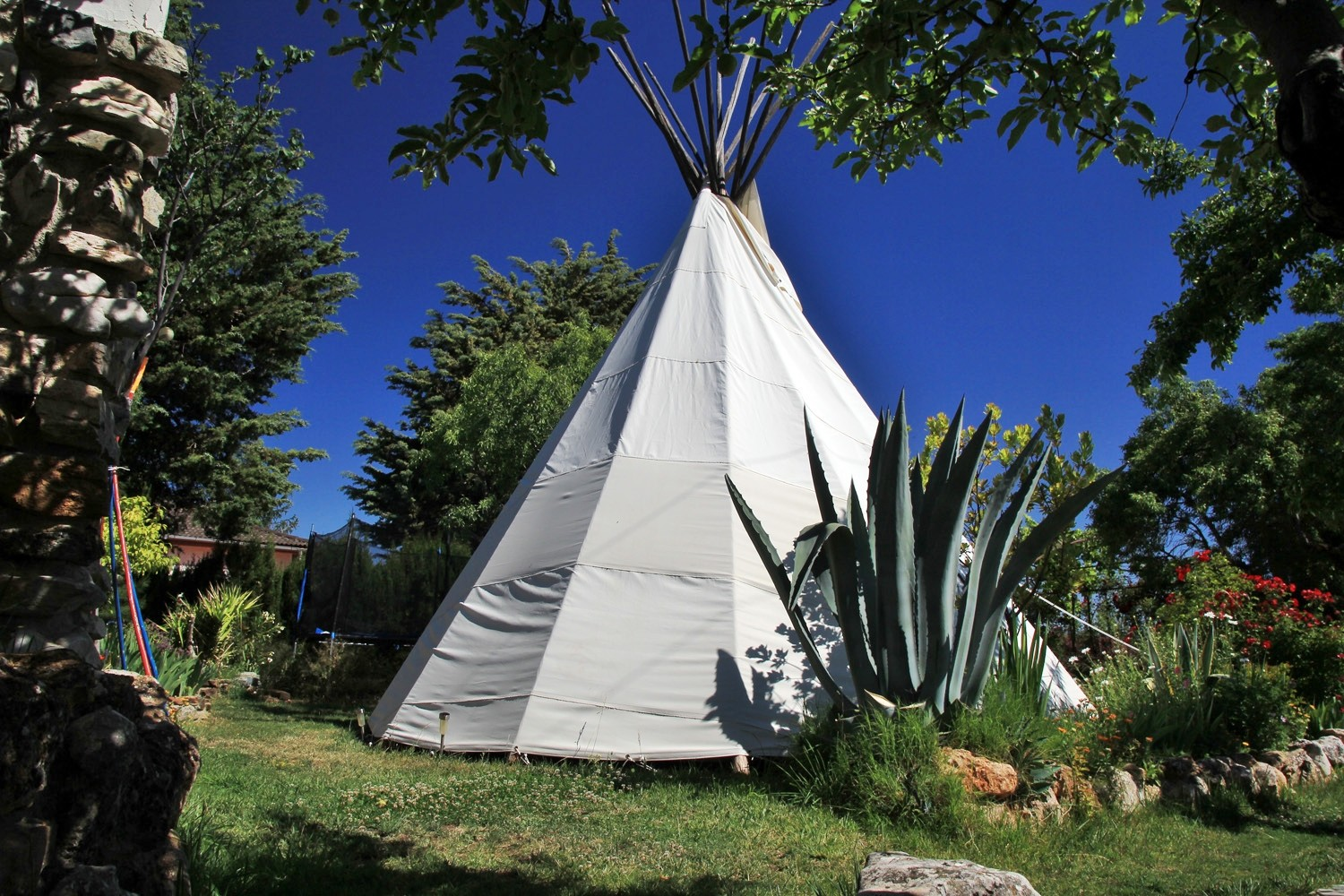Back view of the Teepee